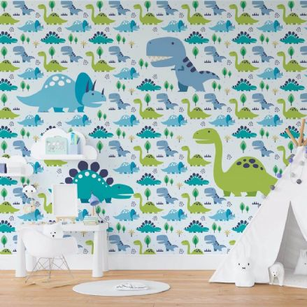 Nursery Paper photo wallpaper Dinosaurs